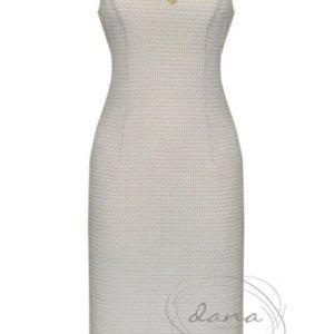 sukienka-Kaja ecru- złoto