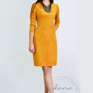 sukienka- Laura -musztarda .