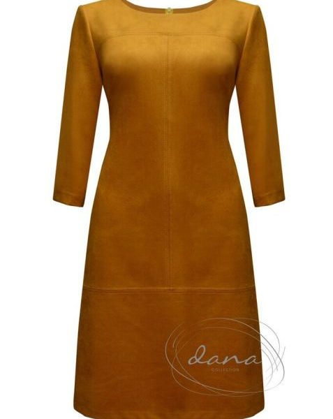 sukienka- Laura -musztarda