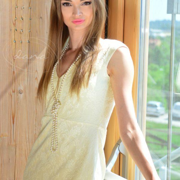 Sukienka- Caren- Żółty